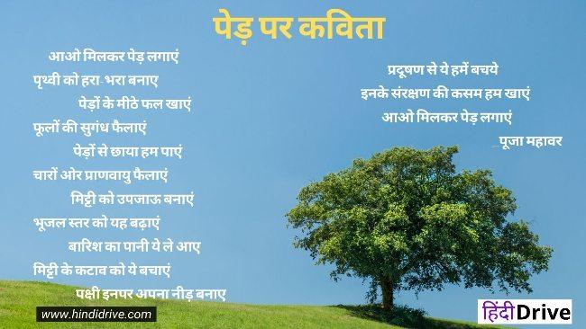 पेड़ पर कविता – Poem on Tree in Hindi – Kavita on Tree in Hindi