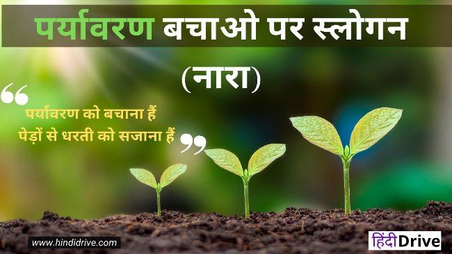 15+पर्यावरण पर नारा | Slogan on Environment in Hindi