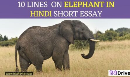 10 Lines On Elephant In Hindi
