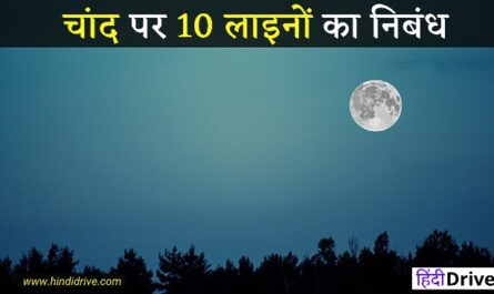 10 Lines On Moon In Hindi