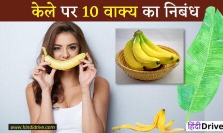 10 Lines on Banana in Hindi