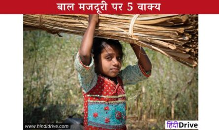 5 Lines On Child Labour In Hindi