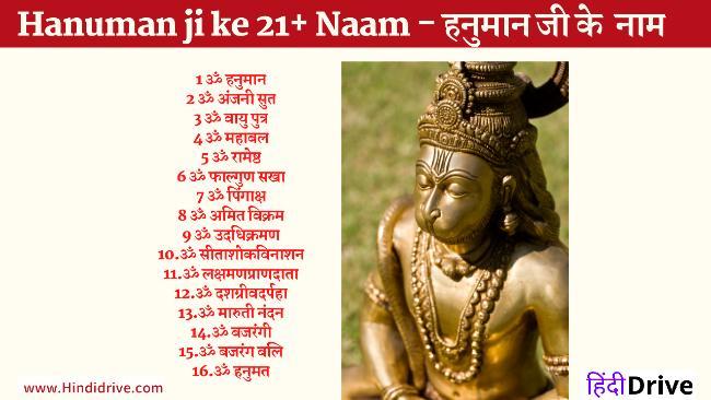 Hanuman ji ke 21+ Naam – हनुमान जी के 21+ नाम
